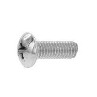 鉄/黒色クロメート + トラス小ねじ 小頭 M4 × 12