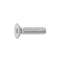 鉄/三価ホワイト+ZECCOAT + サラ小ねじ 全ねじ M6 × 27