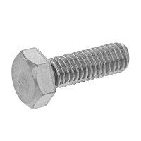鉄/三価ホワイト+ZECCOAT 六角ボルト 全ねじ M8×125