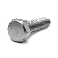 鉄/三価ホワイト+ZECCOAT 六角ボルト 左ねじ・全ねじ M6×10