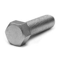 鉄/三価ホワイト+ZECCOAT 小形 六角ボルト 全ねじ M12×20