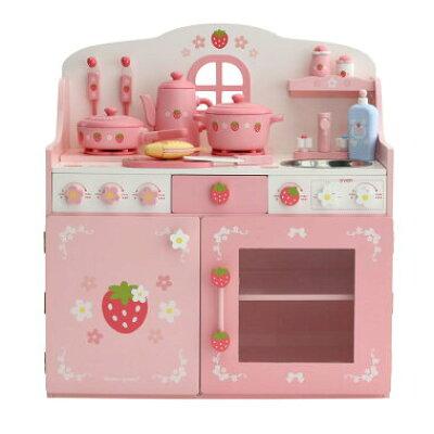野苺 木のおままごとセット キッチンデラックス キューティ柄 - クリエイティブヨーコ