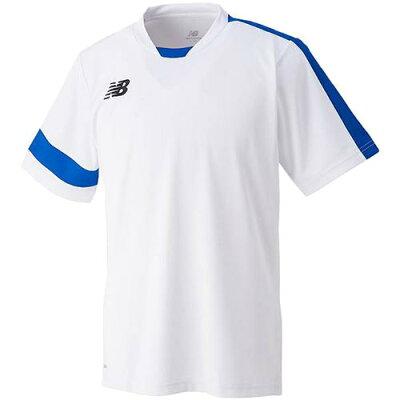 ニューバランス newbalance ジュニア ゲームシャツ ホワイト/ロイヤルブルー NBJ-JJTF6197