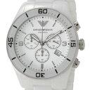 EMPOLIO ARMANI エンポリオ・アルマーニ メンズ 腕時計 セラミカ ホワイト クロノグラフ AR1424