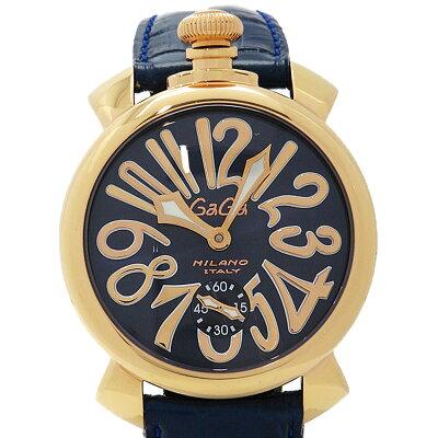 ガガミラノ GaGaMILANO メンズ 腕時計 マヌアーレ 5011.5 ブラック×ゴールド×ブルー