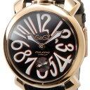 ガガミラノ Gaga Milano 5011.12S マヌアーレ 48mm ブラック メンズ 時計