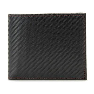 モンテスピガ monte SPIGA 二つ折り財布 MOSQS371BBKRD カーボン調 ブラック×レッド メンズ