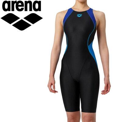 アリーナ レディース 競泳水着 Fina承認 セイフリーバックスパッツ 着やストラップARN-9050WE