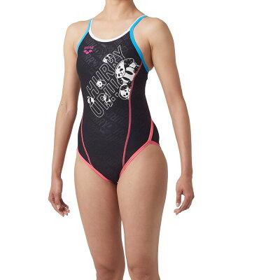 練習水着 SAR9103WJ BKBP 140cm アリーナ arena Kブラック×Nホワイト 女の子用