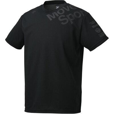 クアトロセンサーハンソデTシャツ descenteデサントマルチSPTシャツ M dmmnja54-bk*19