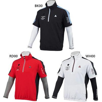le coq sportif GOLF メンズ ブルゾン&ハイネックシャツ 半袖ブルゾン&長袖ハイネックインナー
