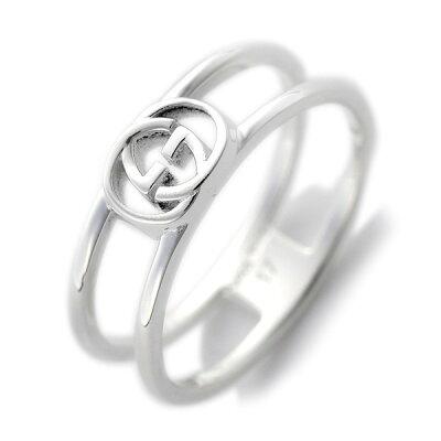 グッチ gucci 指輪 メンズ・レディース リング インターロッキングg シンオープンバンド シルバー 298036 j8400 8106