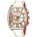 ANGEL CLOVER エンジェルクローバー メンズ腕時計 NEW DOUBLE PLAY (ニューダブルプレイ) ホワイト×ローズゴールド/ホワイトレザーストラップ DP38PWH-WH (エンジェルクローバー 時計)