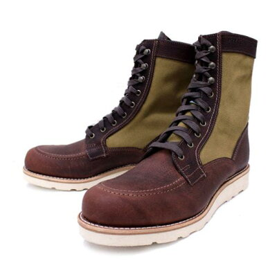 WOLVERINExFILSON W00285 1000MILE ROWAN WEDGE BOOTS  BROWN