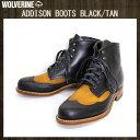 WOLVERINE ウルヴァリン ウルバリン W05922 1000MILE WINGTIP ADDISON BOOTS (アディソンブーツ) BLACKXTAN 特製ケアセット付属