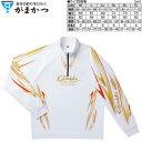 がまかつ 2WAYプリントジップシャツ 長袖 GM-3474 ホワイト Mサイズ