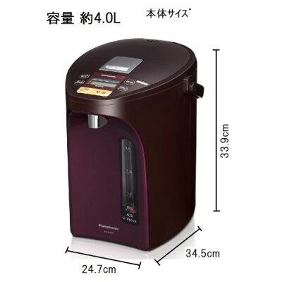 Panasonic 電気ポット NC-SU404-T