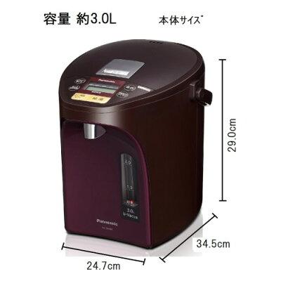 Panasonic マイコン沸騰ジャー電気ポット NC-SU304-T