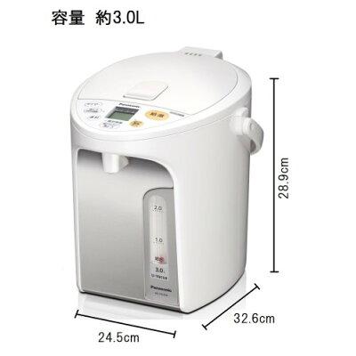Panasonic マイコン沸騰ジャーポット お好み温調 NC-HU304-W
