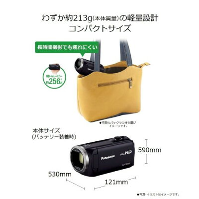 Panasonic デジタルハイビジョン ビデオカメラ HC-V360MS-W