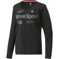 デサント  レディース トレーニングウェア サンスクリーン ロングスリーブシャツ レディース DAT5725WL BLK ブラック S