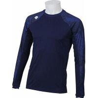 デサント  メンズ トレーニングウェア MOTION FREE ロングスリーブシャツ DAT5717L DNVY Dネイビー L