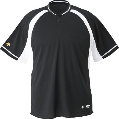 DS-DB103B-BKSW-L デサント ベースボールシャツ BKSW・サイズ:L DESCENTE 2ボタンベースボールシャツ レギュラーシルエット