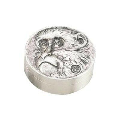高岡銅器 銅製小物 高村光雲原型 肉池 老猿 銀メッキ 54-05