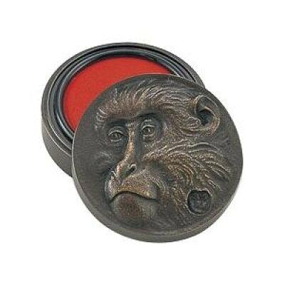 高岡銅器 銅製小物 高村光雲原型 肉池 老猿 オハグロ 54-06