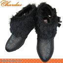 CHARDAS チャルダス CS-2504 黒 子供 カジュアルブーツ サイドゴア 女の子 ショート
