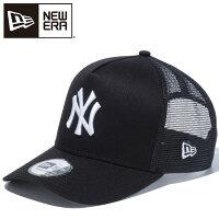 ニューエラ キャップ NEW ERA D-Frame Trucker ニューヨークヤンキース メッシュキャップ / ブラック×ホワイト