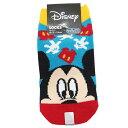 キッズ ソックス 子供 用 靴下 ミッキーマウス アップ BL×RD ディズニー スモールプラネット 13~18cm