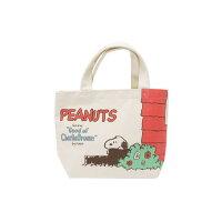 スヌーピー ランチバッグ マチ コットンバッグ ひょっこり ピーナッツ  30×20×9.5cm お弁当かばん
