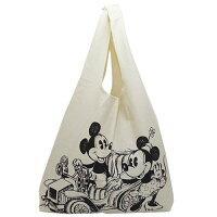 キャンバス ショッピングバッグ トートバッグ ミッキーマウス ドライブ ディズニー ランデブー