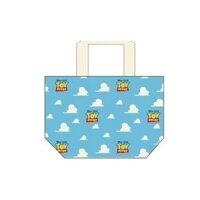 トイストーリー ランチバッグ マチ コットンバッグ 雲とロゴ ディズニー  30×20×9.5cm お弁当かばん