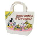 ミッキー & プルート ランチバッグ マチ付き コットンバッグ お風呂 ディズニー スモールプラネット お弁当かばん
