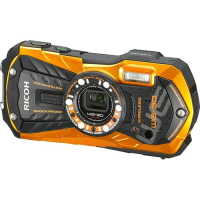 リコー 防水カメラ WG-30W フレームオレンジ(1台)