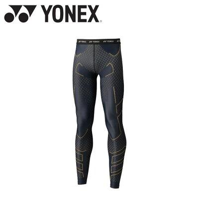YONEX ユニロングスパッツ STBA2007 色 : ブラック/ゴールド サイズ : S