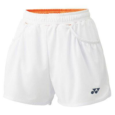 YONEX 25019/011 ヨネックス ウィメンズショートパンツ カラー:ホワイト サイズ:L