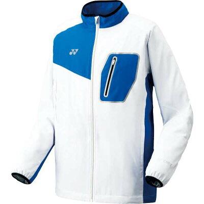 Yonex/ヨネックス 70051-207 UNI 裏地付ウィンドウォーマーシャツ フィットスタイル ホワイト×ブルー
