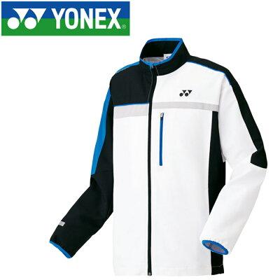 ヨネックス 70052 テニス  バドミントン ウェア  メンズ/ユニ ユニウィンドウォーマーシャツ ホワイト/ブラック