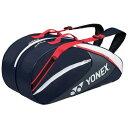 YONEX(ヨネックス) TEAM SERIES ラケットバッグ6(リュック付き・テニスラケット6本用) ネイビーブルー BAG1732R