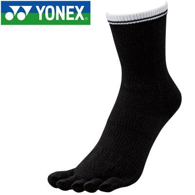 YONEX メンズベリークールハーフソックス19125007ブラック