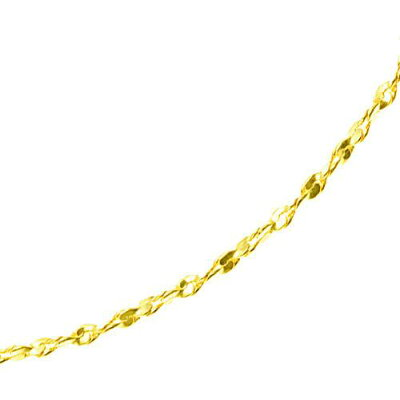 K18ロングネックレス swage chain 80