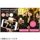 HAMEE ライト付自撮り棒 SelfieStick with Light ブラック SELFIESTICKLEDBK