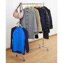 全体耐荷重85kgで衣類をたっぷり収納できる ハンガープロシングル クローム(1台)