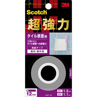 スリーエムジャパン スコッチ 超強力両面テープ タイル表面用 12mm×1.5M KST-12