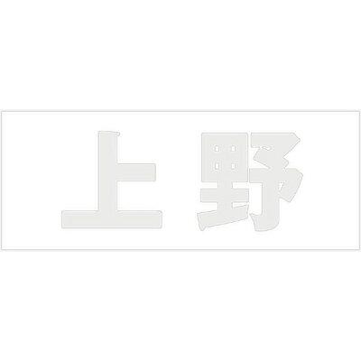 光 切文字 パールグレー 天地50ミリタイプ 上野
