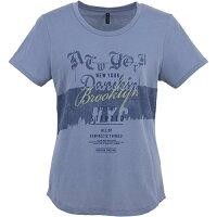 ダンスキン DANSKIN フィットネス/FITNESS Tシャツ BS/サルビアブルー DB77160