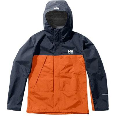 ヘリーハンセン HELLY HANSEN メンズ スカンザライトジャケット Scandza Light Jacket パンプキン×ヘリーブルー HOE11903 PH